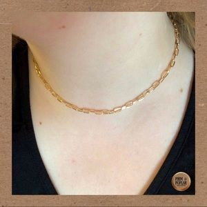 Clare Chain- Gold Paperclip Style Chain Necklace